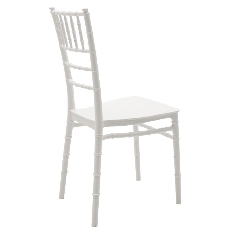 Καρέκλα catering Tiffany pakoworld pp λευκό