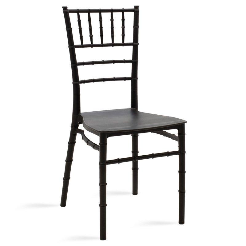 Καρέκλα catering Tiffany pakoworld pp μαύρο