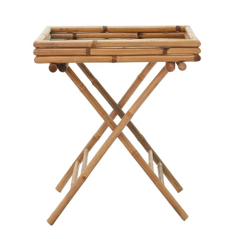 Τραπέζι Valens pakoworld πτυσσόμενο bamboo φυσικό 63x43x74εκ