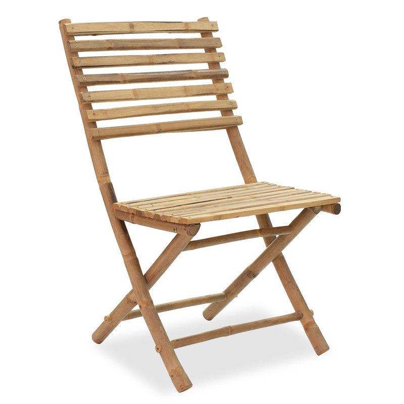 Καρέκλα κήπου Nixon pakoworld πτυσσόμενη bamboo φυσικό