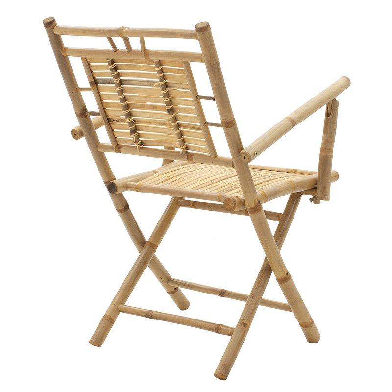Πολυθρόνα κήπου Tyson pakoworld πτυσσόμενη bamboo φυσικό