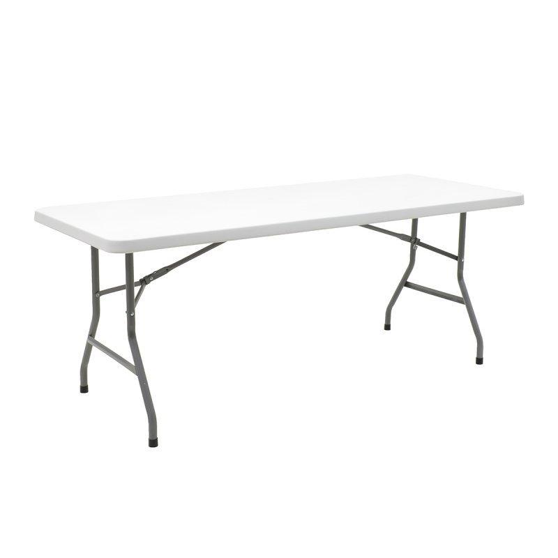 Τραπέζι catering-συνεδρίου Aprilia pakoworld λευκό μονοκόμματη επιφάνεια 183x76x74εκ