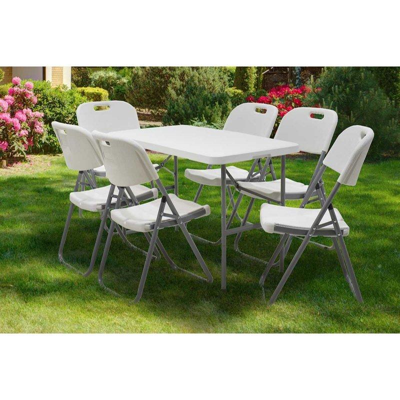 Τραπέζι catering Rodeo pakoworld πτυσσόμενο-βαλίτσα λευκό 122x60x74εκ