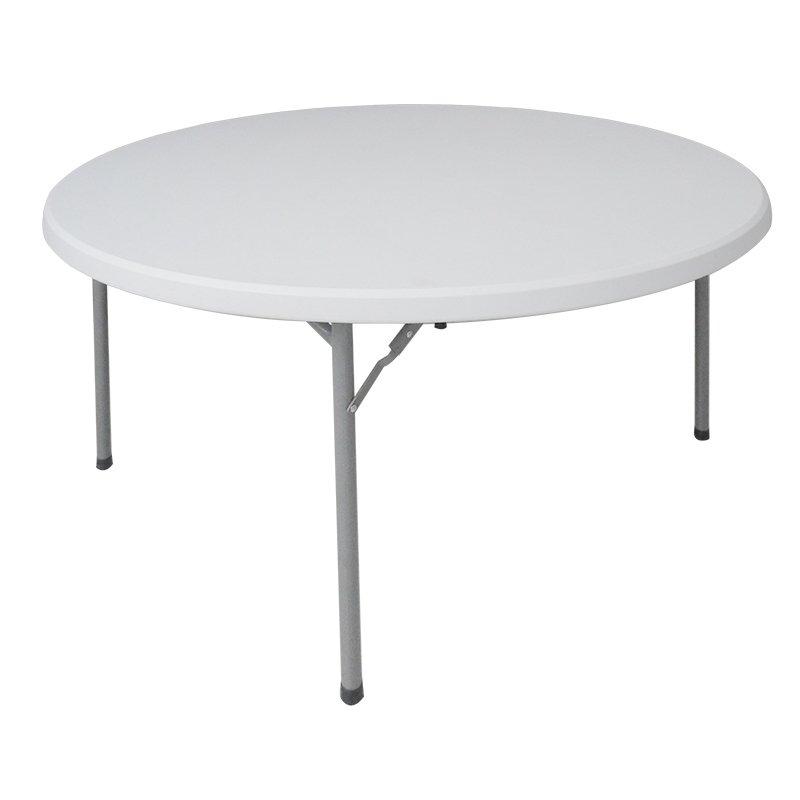 Τραπέζι μονοκόμματο catering-συνεδρίου Comfort pakoworld λευκό στρόγγυλο Φ152x74εκ