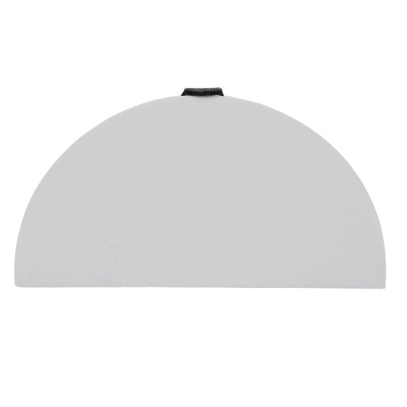 Τραπέζι βαλίτσα catering-συνεδρίου Comfort pakoworld λευκό στρόγγυλο Φ122x74εκ
