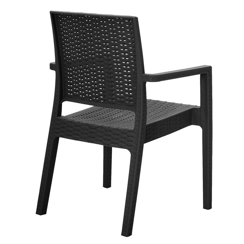 Πολυθρόνα Cabot pakoworld PP χρώμα μαύρο