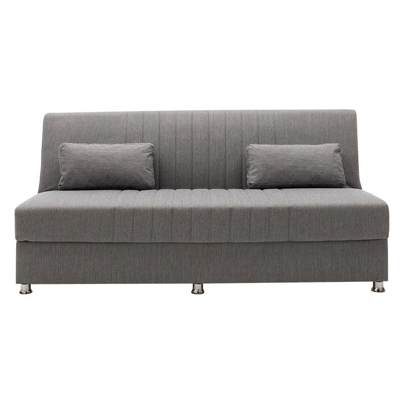 Καναπές κρεβάτι Sambo pakoworld 3θέσιος ύφασμα γκρι 190x86x85εκ