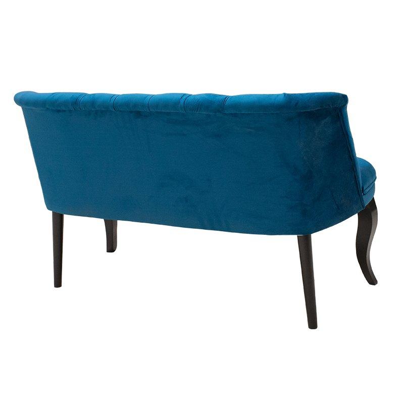Καναπές Loreta pakoworld 2θέσιος βελούδο σκούρο μπλε 123x65x73εκ