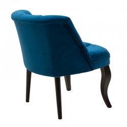Πολυθρόνα Loreta pakoworld βελούδο σκούρο μπλε 59x64x73εκ