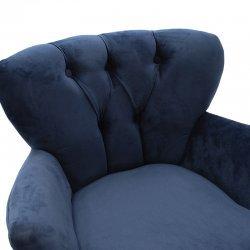 Πολυθρόνα Samara pakoworld βελούδο σκούρο μπλε 67x62x78εκ