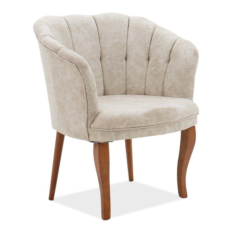Πολυθρόνα Daisy pakoworld ύφασμα μπεζ antique 73x69x82εκ