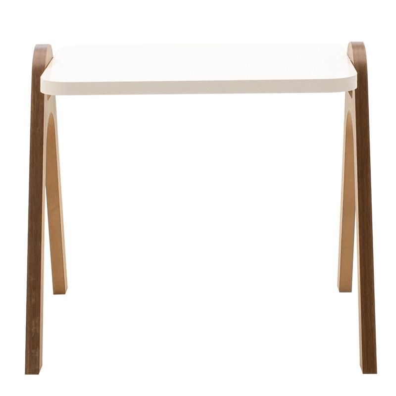 Βοηθητικά τραπέζια σαλονιού Valera σετ 3τεμ λευκό gloss-καρυδί