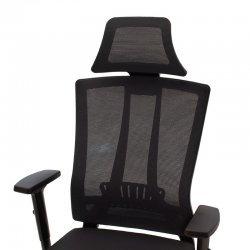 Καρέκλα γραφείου διευθυντή Edon pakoworld ύφασμα mesh ανθρακί-μαύρο