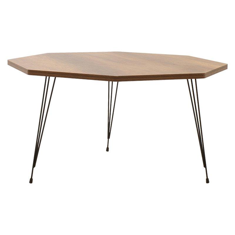 Τραπέζι σαλονιού Dast pakoworld καρυδί-μαύρο 74x74x46.5εκ