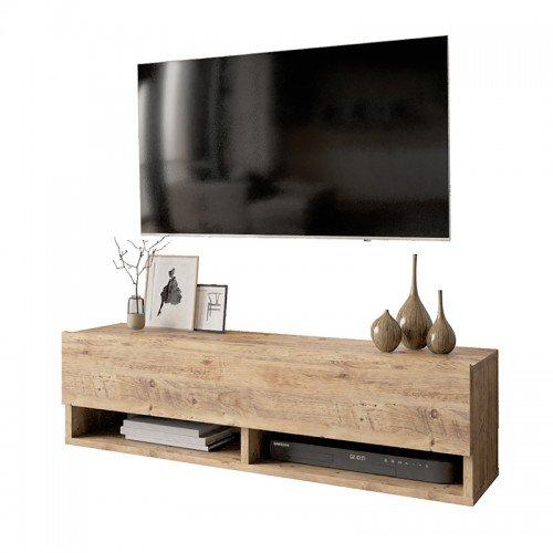 Έπιπλο τηλεόρασης επιτοίχιο Roscoe pakoworld oak 100x31,5x29,5εκ