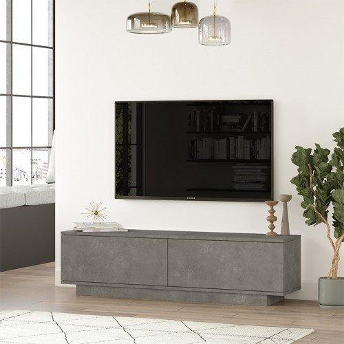 Έπιπλο τηλεόρασης Zoeva pakoworld γκρι cemento 140x35,5x38εκ