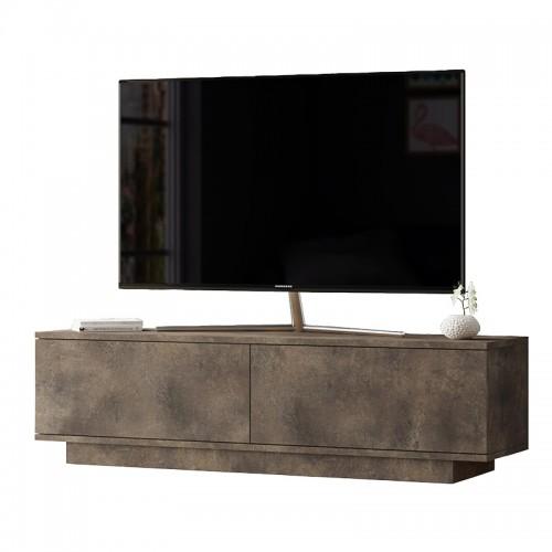 Έπιπλο τηλεόρασης Zoeva pakoworld καφέ antique 140x35,5x38εκ