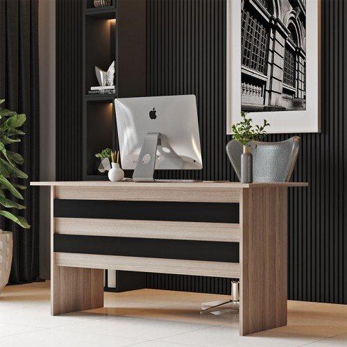 Γραφείο εργασίας Massimo pakoworld φυσικό-μαύρο 140x60x74εκ