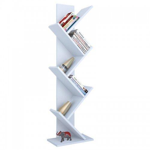 Βιβλιοθήκη Sabrine pakoworld λευκό 40x22x128εκ