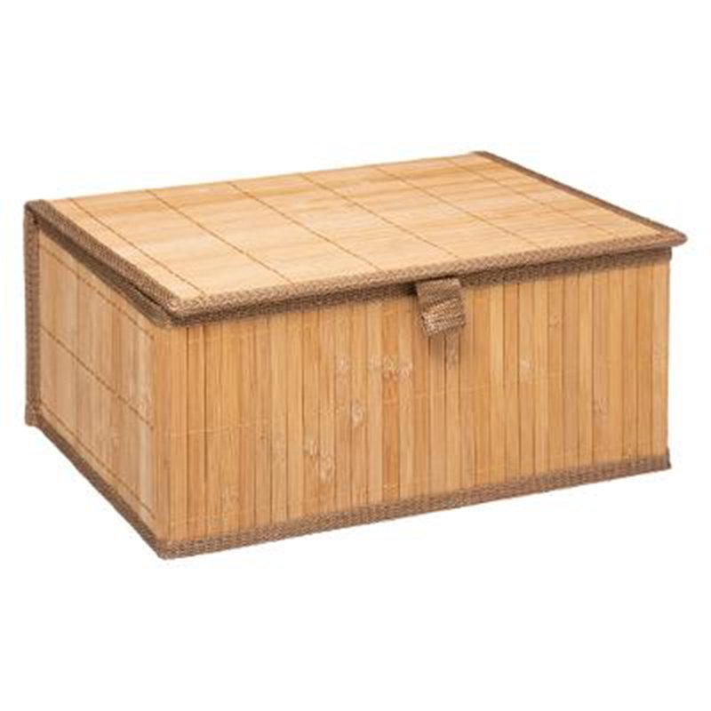 Κουτιά αποθήκευσης σετ 3τμχ Natural pakoworld χρώμα φυσικό