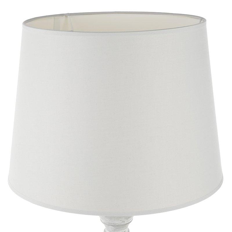 Φωτιστικό δαπέδου Leo pakoworld χρώμα γκρι antique-καπέλο λευκό Φ37x153εκ