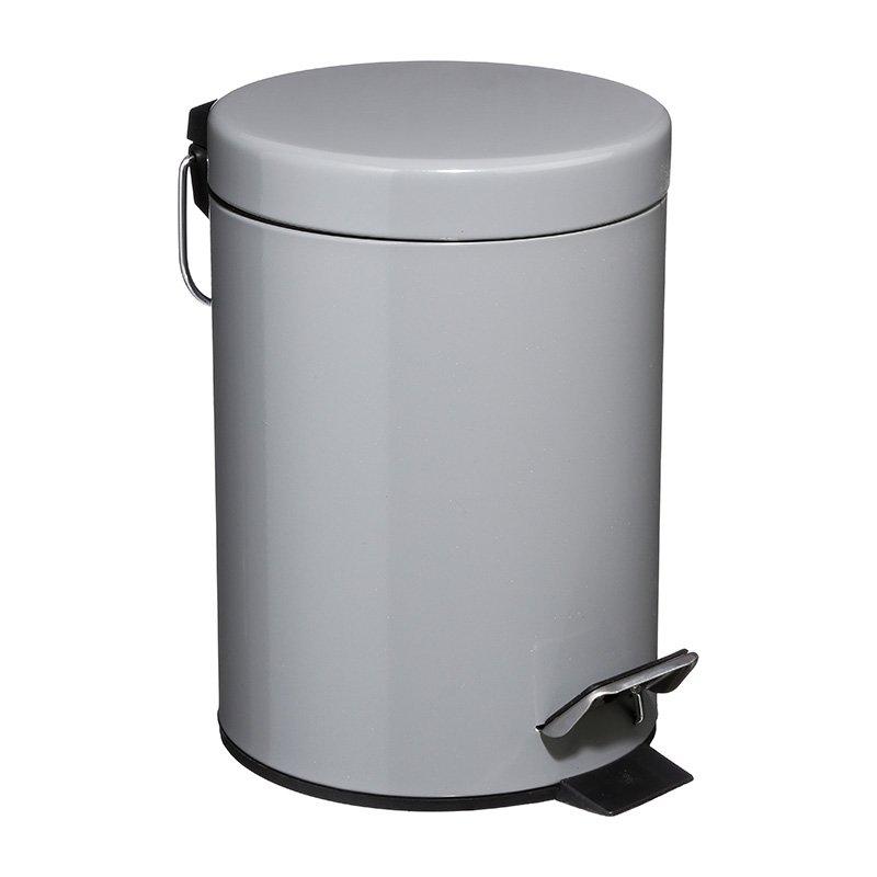 Κάδος απορριμμάτων 3L Dustbin pakoworld μέταλλο-pp γκρι