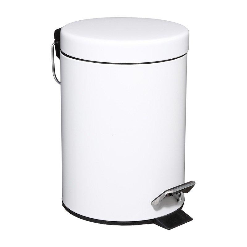 Κάδος απορριμμάτων 3L Dustbin pakoworld μέταλλο-pp λευκό
