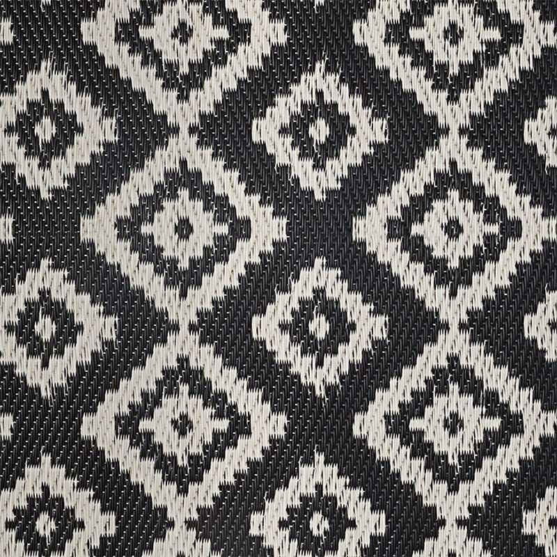 Χαλί Boex pakoworld pp μαύρο-λευκό 180x90εκ