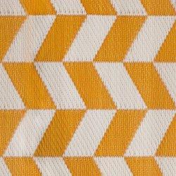 Χαλί Boex pakoworld pp κίτρινο-λευκό 180x90εκ