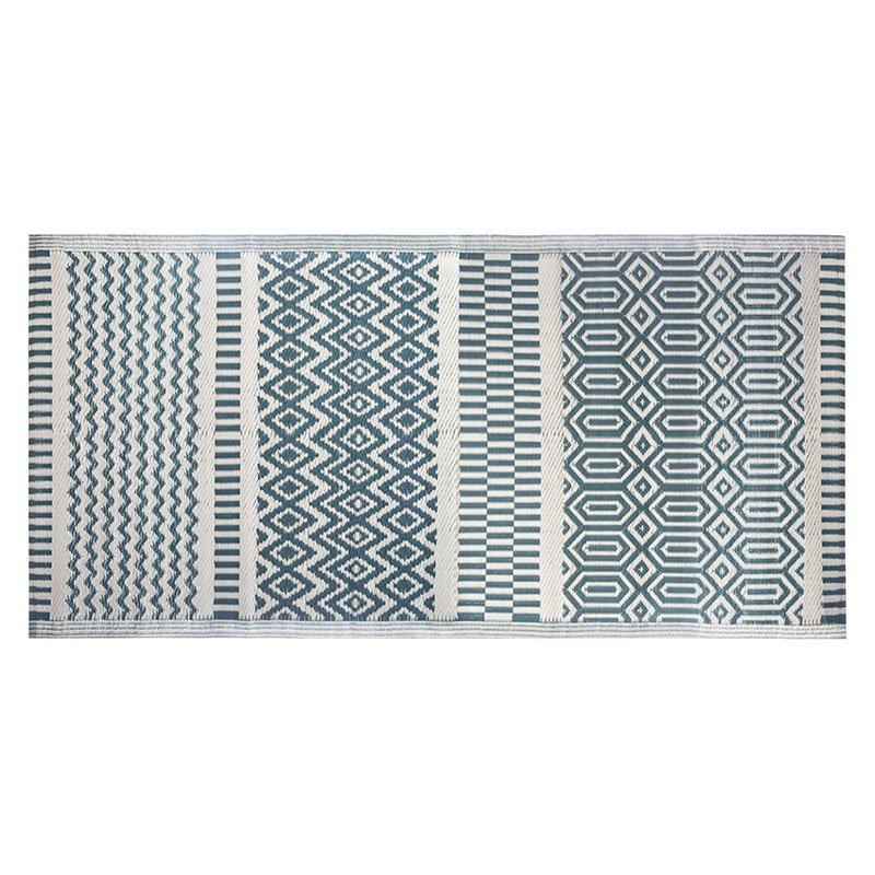 Χαλί Boex pakoworld pp μπλε-λευκό 180x90εκ