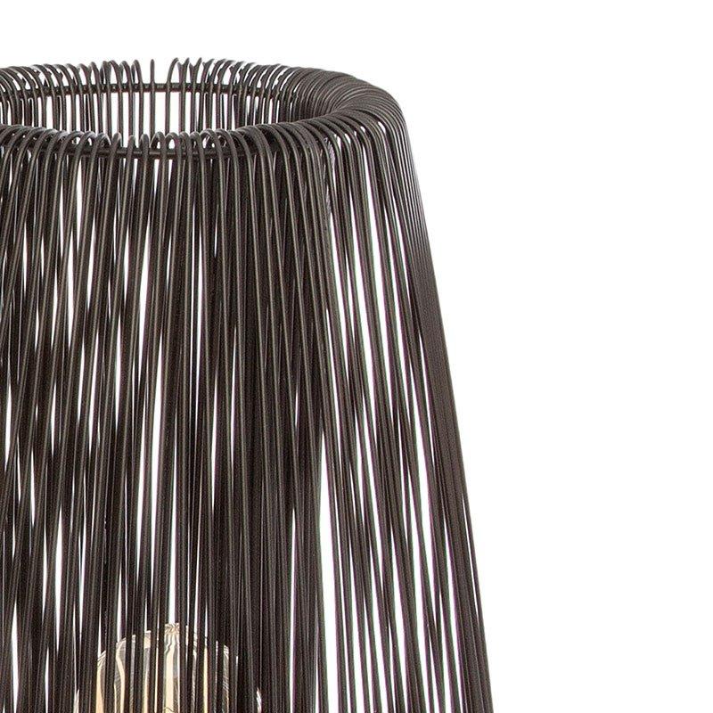 Φωτιστικό Noda pakoworld E27 μαύρο Φ33,5x76εκ