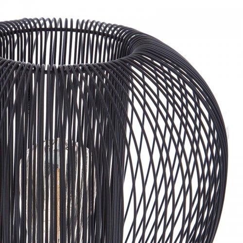 Φωτιστικό Nodal pakoworld E27 μαύρο Φ28.5x25εκ