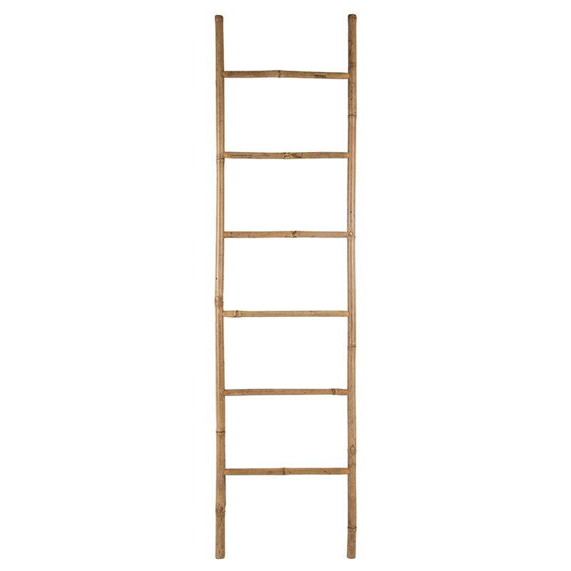 Σκάλα Natural pakoworld ξύλινη μπαμπού φυσικό 50x3x190,5εκ