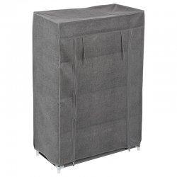 Παπουτσοθήκη Bain pakoworld 12 ζεύγων ύφασμα ανθρακί 59x29x89εκ