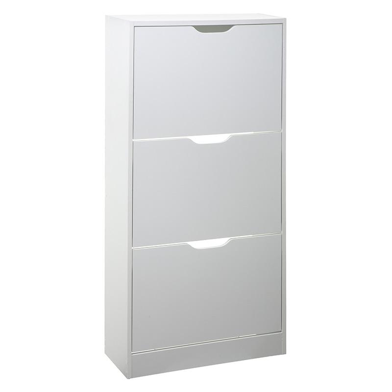 Παπουτσοθήκη Tir pakoworld 12  ζεύγων λευκό 60x23,3x119εκ